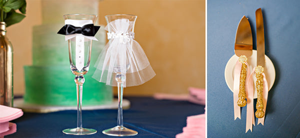 Special Toasting Flutes for a Wedding  | www.justadreamllc.com