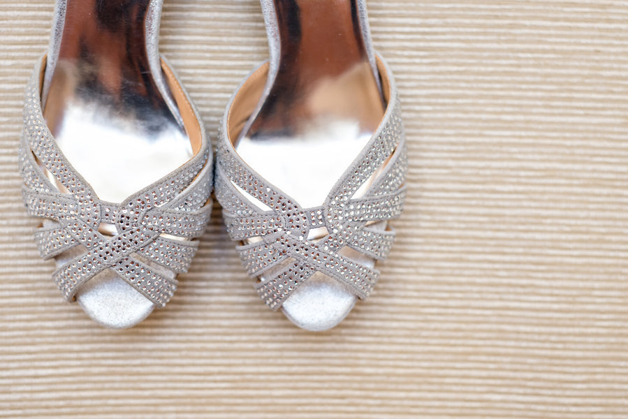 Sparkly Bridal Shoes | www.justadreamllc.com