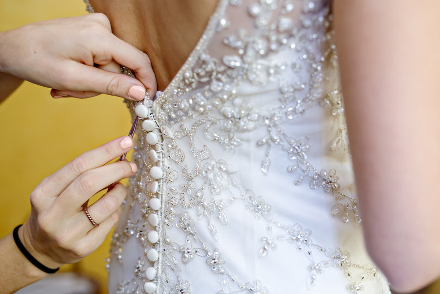 Beaded bridal Gown | www.justadreamllc.com