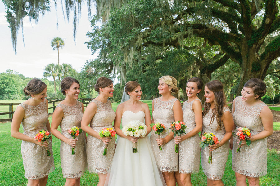 Bridal Party | Southern Fall Plantation Wedding | Priscilla Thomas Photography