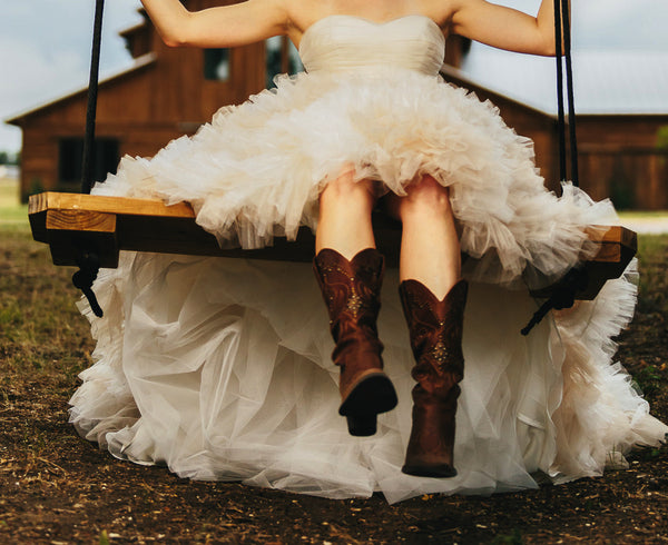 Tim Kyle Photography | Rustic Romantic Style | Bridal Style | Barn Wedding | bride in boots | ballgown