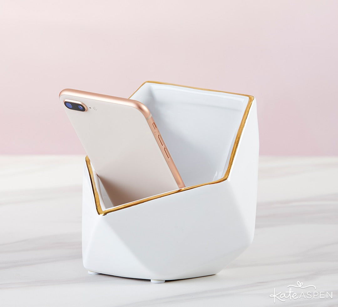 Classic Ceramic Phone Amplifier | 6 Must-Have Bachelorette Party Accessories | Kate Aspen