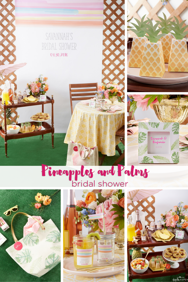 A Pineapples and Palms Bridal Shower | @kateaspen | KateAspen.com
