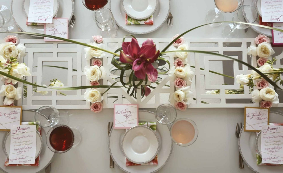 Pink Bridal Shower Table Laura Dee Photography