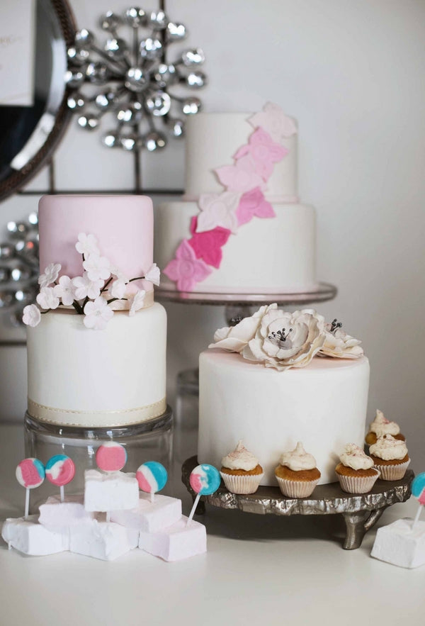 Light Pink Cakes and Cupcakes | Laura Dee Photography