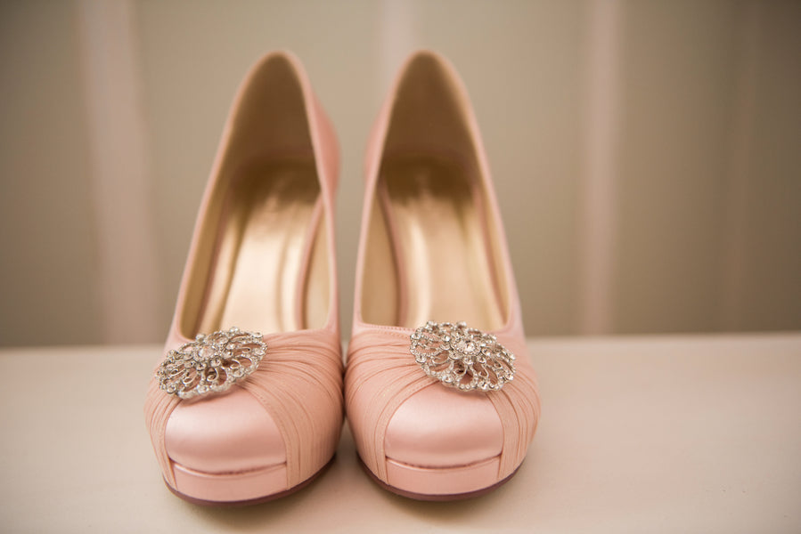 Pink Heels | A Beautiful Blush Wedding | Kate Aspen