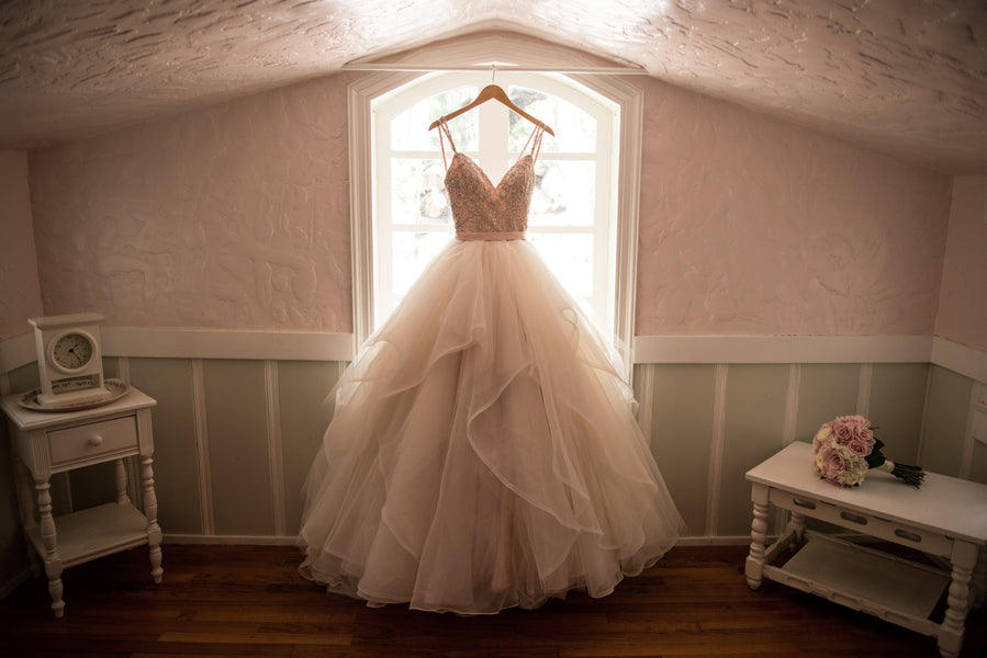 Pink Wedding Dress | A Beautiful Blush Wedding | Kate Aspen