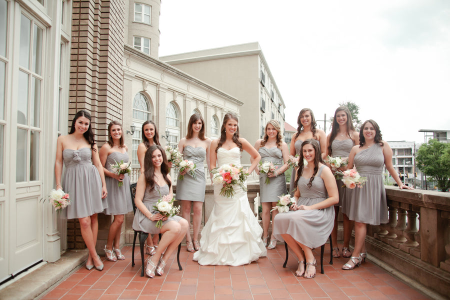 Bride and Bridesmaids in Purple and Silver | Suburbanite Photography