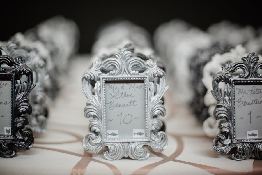 Baroque Place Card Holders by Kate Aspen | Suburbanite Photography