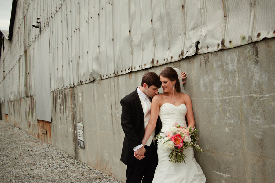 Bride and Groom Industrial Wedding Venue | Suburbanite Photography