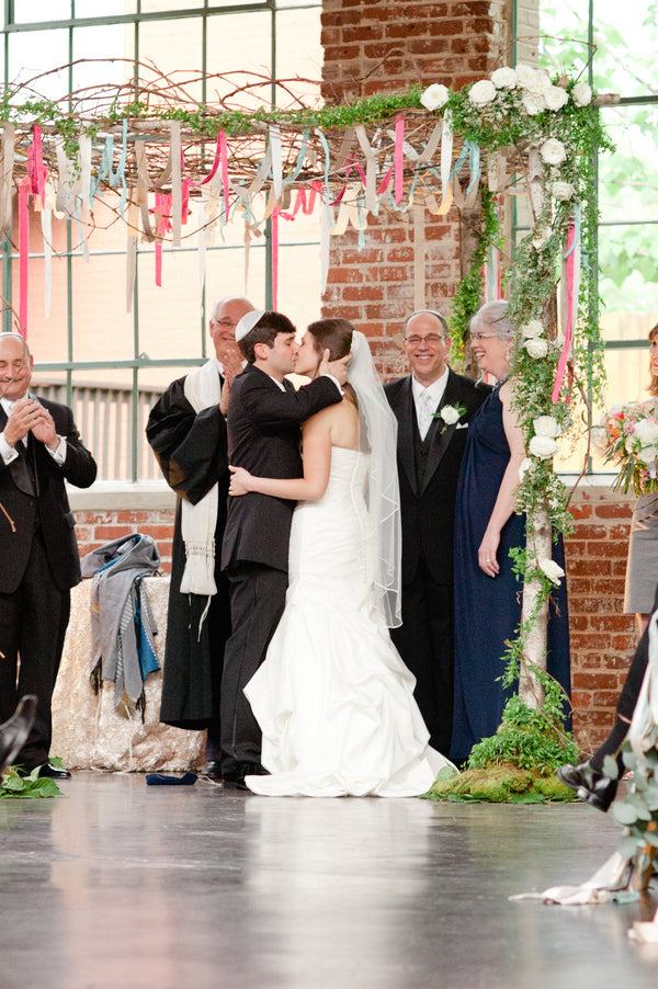 The Bride and Groom Kiss | Suburbanite Photography