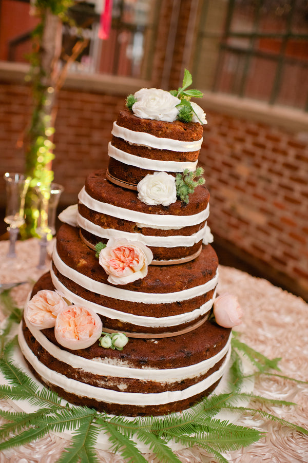 Naked Carrot Cake Wedding Cake by The Frosted Pumpkin | Suburbanite Photography