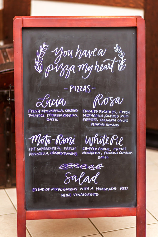 Pizza Menu | Falling in Love With This Halloween Wedding | Kate Aspen