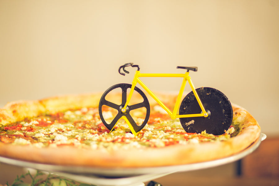 Bicycle Pizza Cutter | Mountain Bike Industrial Themed Wedding Shoot | Lifestyle Photography