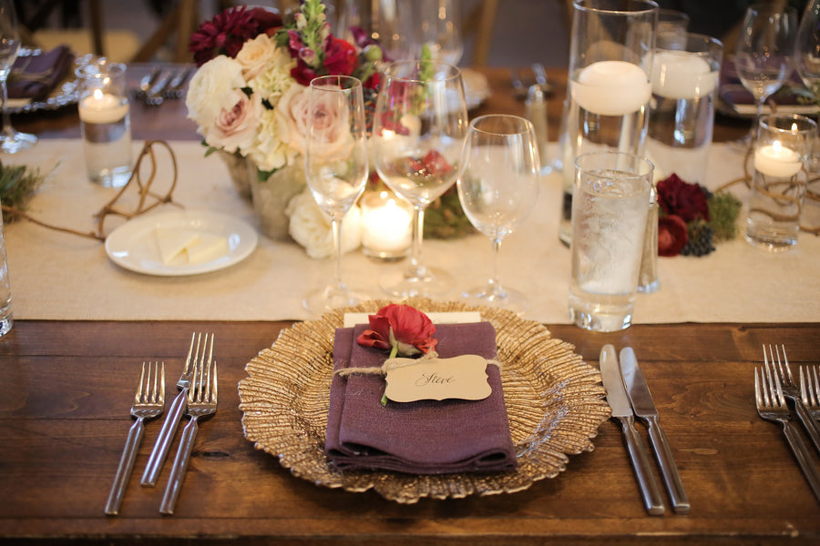 Place Setting | Burgundy Fall Wedding | Pepper Nix Photography