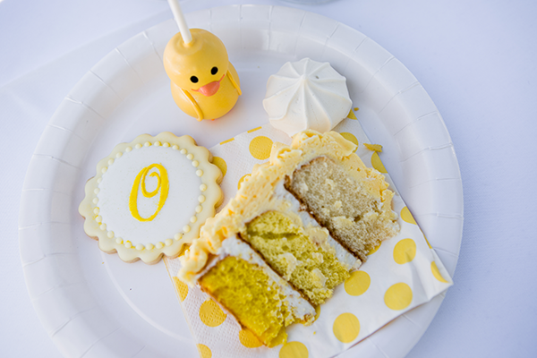 Duck Cake Pop, Macaroon, Cookie, and Slice of Cake | Little Duckling Adoption Party by Sweet Georgia Sweet