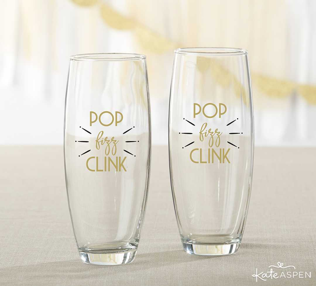 New Year's Eve Stemless Champagne Set | Galentine's Day Gifts for Your Best Gals | Kate Aspen