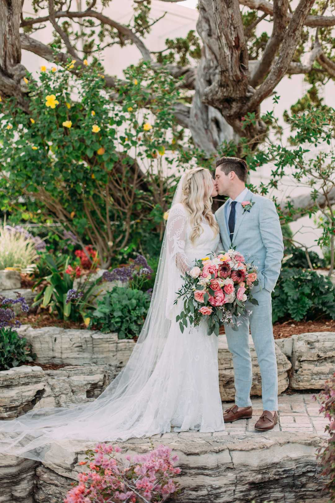 Bride and Groom | A Summer Bohemian Wedding | Kate Aspen