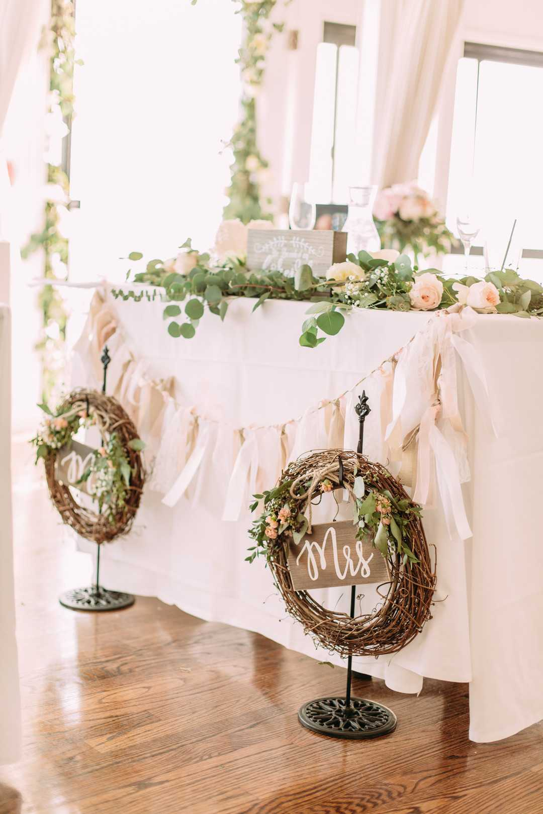 Bride and Groom Reception Table | A Summer Bohemian Wedding | Kate Aspen