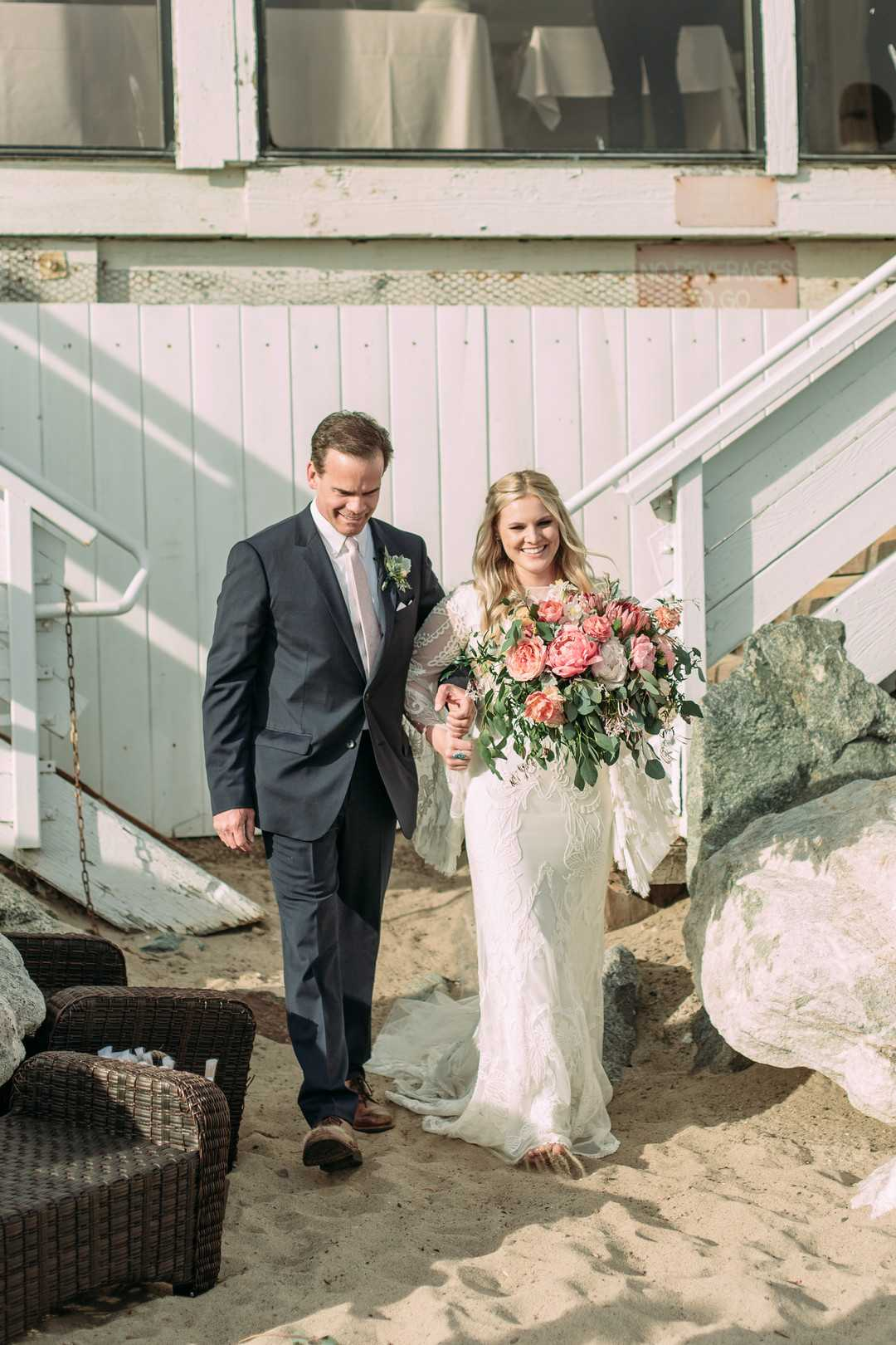 Bride and her Father | A Summer Bohemian Wedding | Kate Aspen