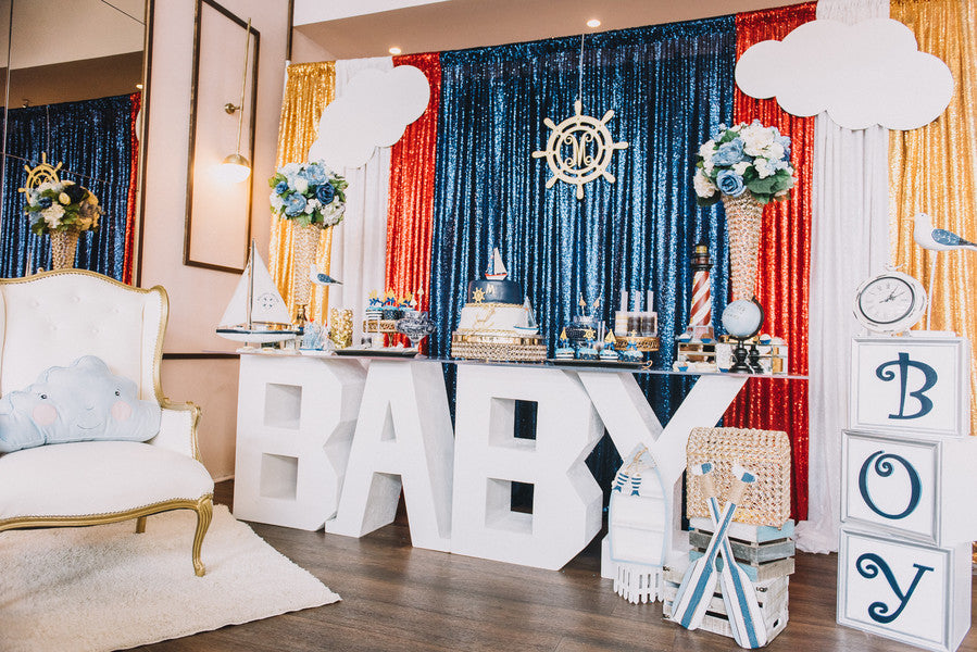 Baby Shower Decor | Anchors Away Baby Shower | Kate Aspen