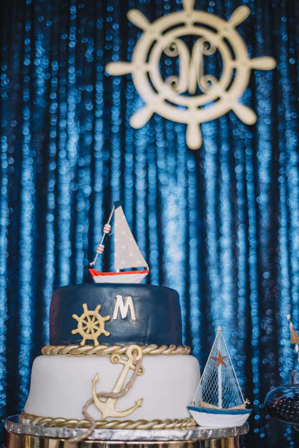 Baby Shower Cake | Anchors Away Baby Shower | Kate Aspen