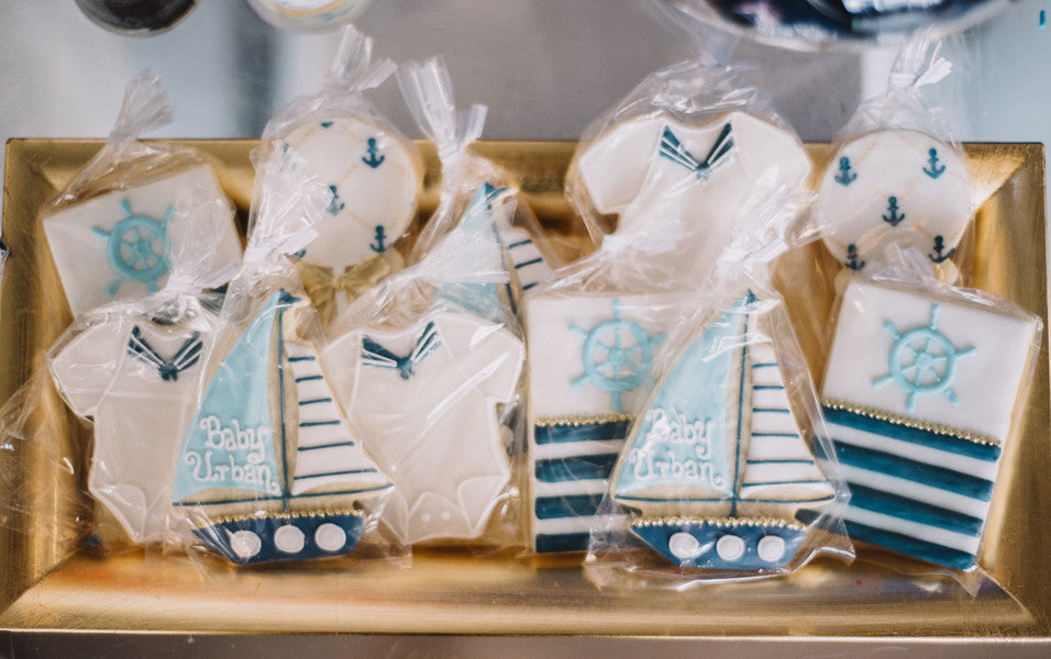 Cookies | Anchors Away Baby Shower | Kate Aspen