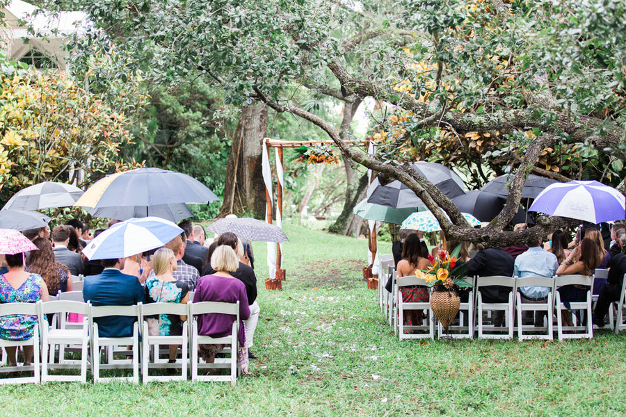 Rainy Wedding | Southern Charm Meets Tropical Paradise | Kristen Browning Photography