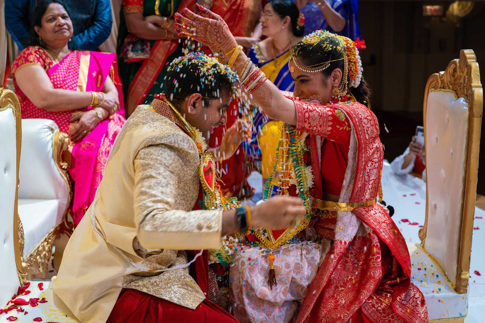 Bride and Groom | A Lavish Indian Wedding | Kate Aspen