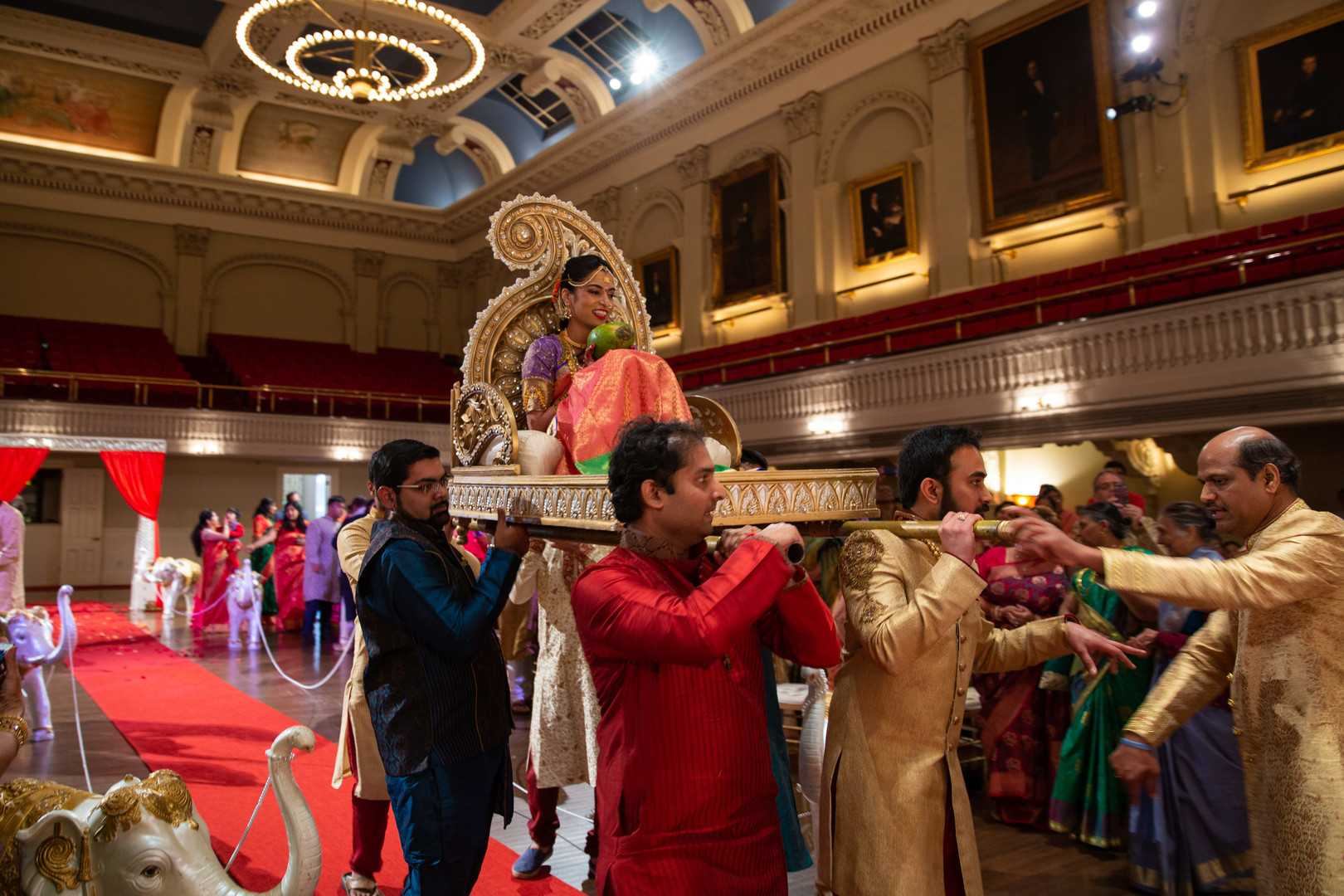 Bride and Her Family | A Lavish Indian Wedding | Kate Aspen