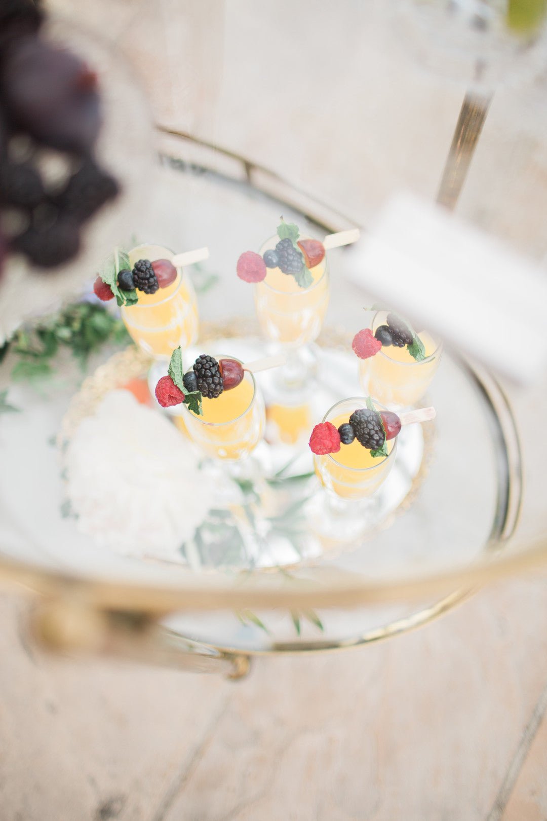 Ready Made Mimosas | Tips For the Perfect Floral Bridal Shower | Kate Aspen