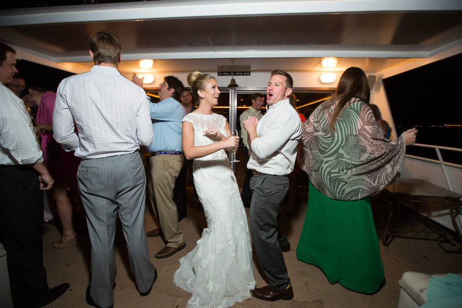 Dance Floor | Nautical Wedding On A Boat | Jeramie Lu Photography
