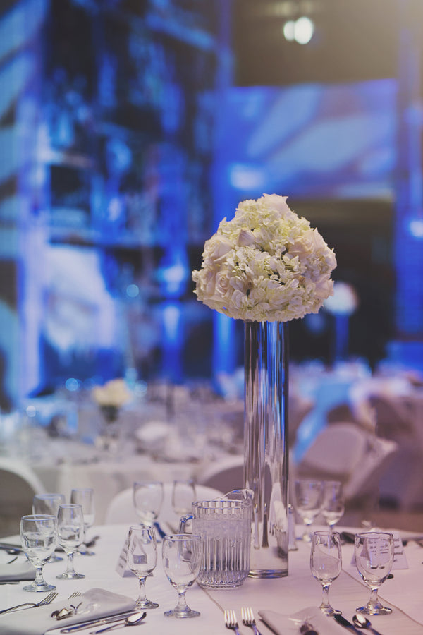 Reception Table Centerpiece | A Sparking Winter Wedding | Dana Widman Photography | Kate Aspen