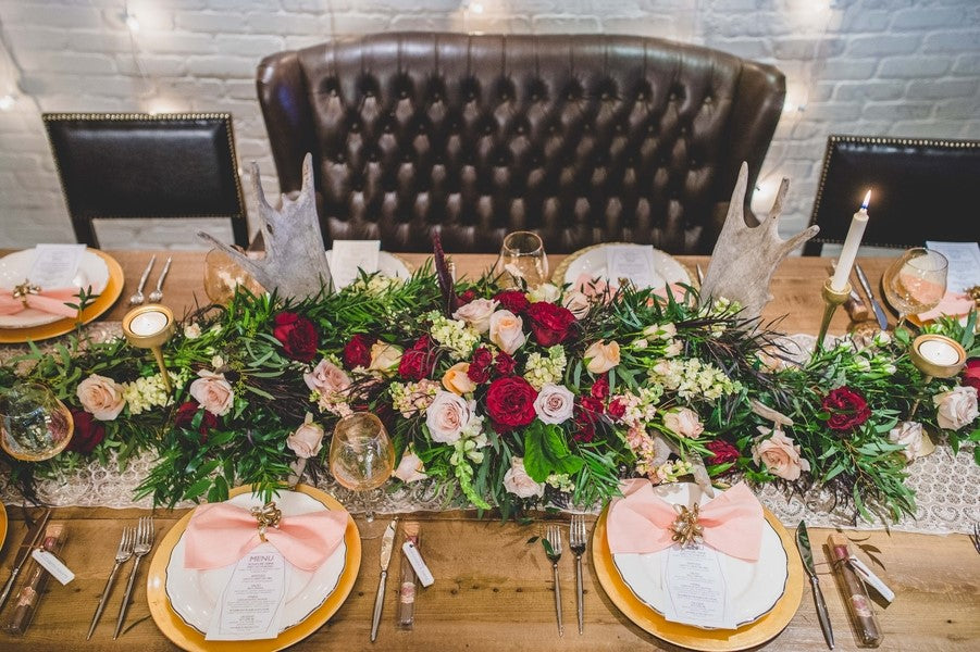 Reception Decor | Art Deco Wedding Inspiration | Edward Lai Photography