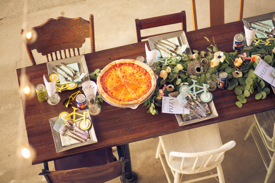 Reception Table | Mountain Bike Industrial Themed Wedding Shoot | Lifestyle Photography
