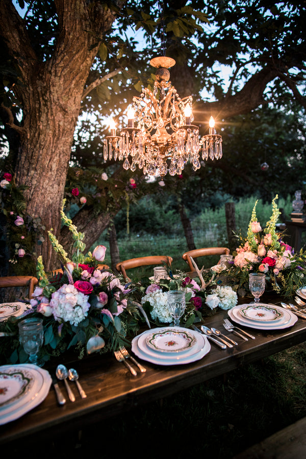 Reception Table at Night | Details For The Perfect Floral Wedding | Kate Aspen