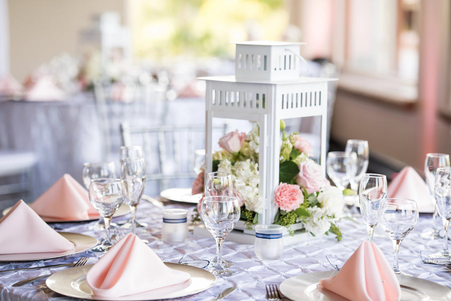 Reception Table | A Beautiful Blush Wedding | Kate Aspen