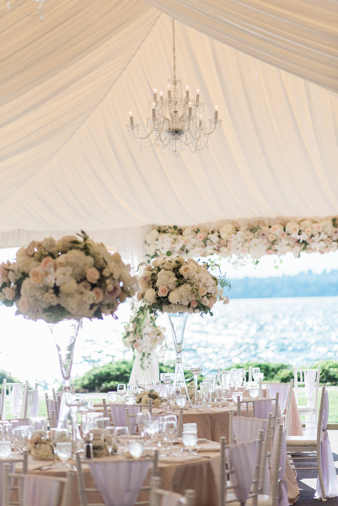 Reception Tables | A Grand Wedding On The Water | Kate Aspen