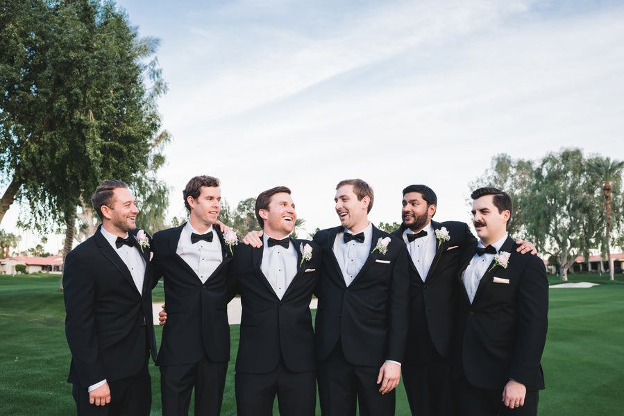 Groomsmen and Groom | A Soft-Colored Country Club Wedding |Randy + Ashley