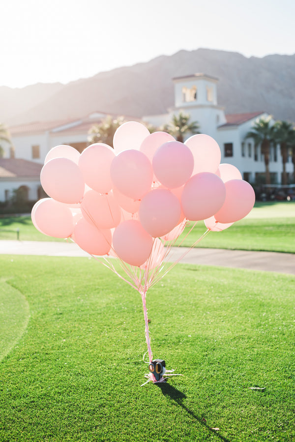 Pink Balloons | A Soft-Colored Country Club Wedding |Randy + Ashley