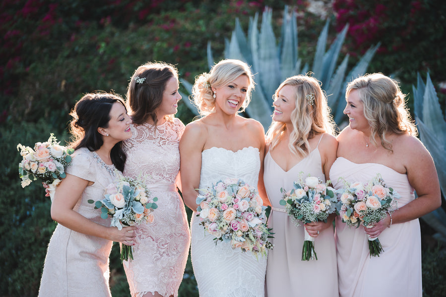 Bridesmaids with Bride| A Soft-Colored Country Club Wedding |Randy + Ashley