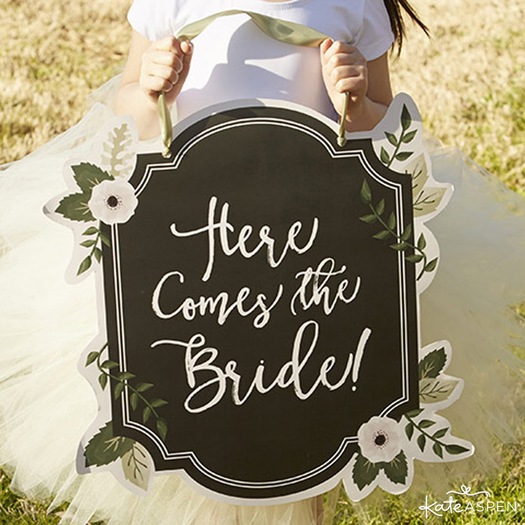 """Here Comes the Bride"" Sign 