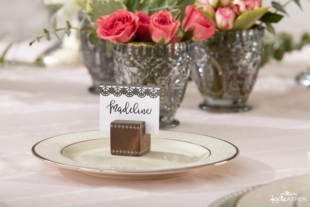 Place Card Holders | Romatic Garden Wedding | Kate Aspen