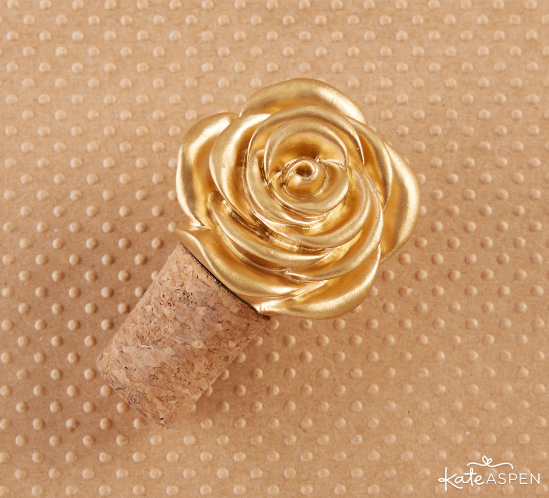 Rose Bottle Stopper | Rustic Accents For The Perfect Fall Celebration | Kate Aspen