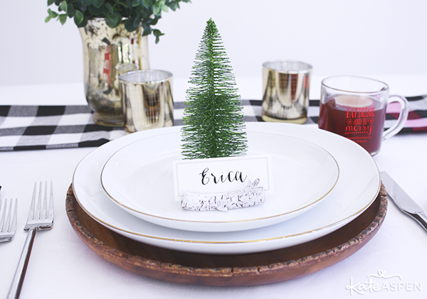 A Simple and Chic Rustic Holiday Table Setting | @kateaspen | KateAspen.com
