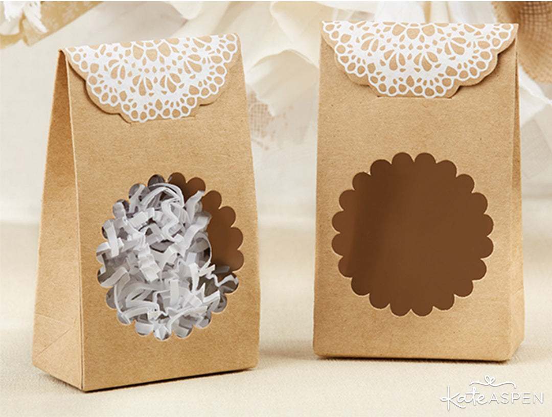 Rustic Tent Favor Boxes | Rustic Baby Shower | Kate Aspen