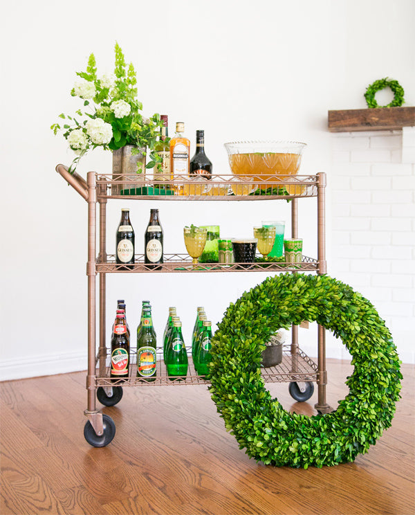 Saint Patrick's Day Bar Cart - Sugar and Charm