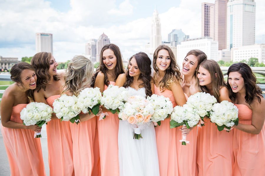 Bridesmaids| Asteria Photography | A Magical Middle School Sweethearts Wedding | Kate Aspen