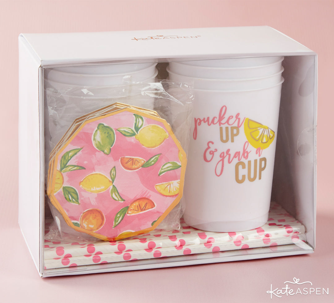She Found Her Main Squeeze 49 Piece Party Kit | A Cheery & Chic Giveaway | Kate Aspen