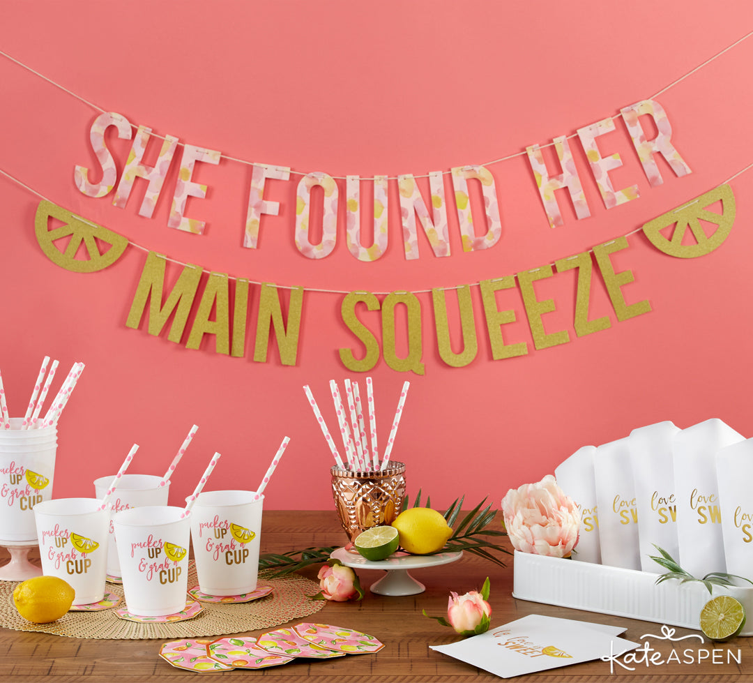 She Found Her Main Squeeze 49 Piece Party Kit Tablescape | A Cheery & Chic Giveaway | Kate Aspen